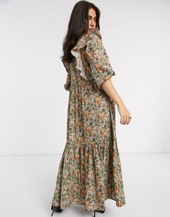 YAS ワンピース YASY.A.S maxi dress with ruffle detail in ditsy floral(4)