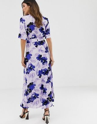 YAS ワンピース YASY.A.S floral shirt maxi dress(2)