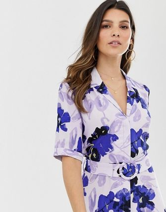 YAS ワンピース YASY.A.S floral shirt maxi dress(3)