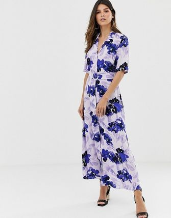 YAS ワンピース YASY.A.S floral shirt maxi dress(4)