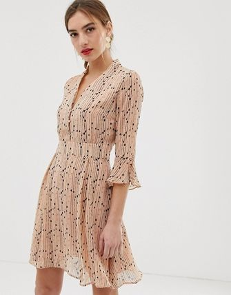 YAS ワンピース YASY.A.S spotted skater dress