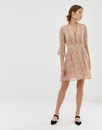 YAS ワンピース YASY.A.S spotted skater dress(4)