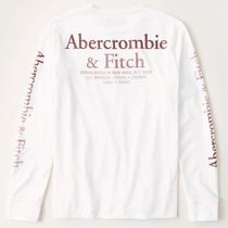 Abercrombie & Fitch(アバクロ) Tシャツ・カットソー 新品タグ付き!!【Abercrombie&Fitch】アバクロ 長袖ロゴTシャツ