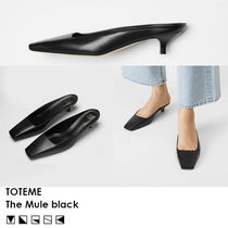 【SS20/人気商品!!】Toteme The Mule black ミュール 黒