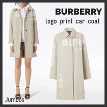 【BURBERRY】SS新作 ホースフェリー ロゴ プリント カー コート