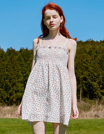 rolarola ワンピース ☆ROLAROLA☆ FLOWER SMOCKING SLEEVELESS ONE-PIECE(3)