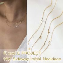 ★E and E PROJECT★14K Sideway イニシャルネックレス☆