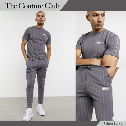 The Couture Club セットアップ The Couture ClubピンストライプTシャツ&ジョガーセット送料込み