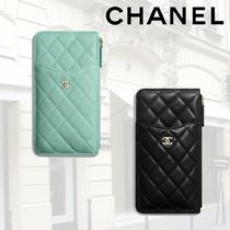 【SS20】CHANEL*iPhone クラシック ポーチ* Blue, Black