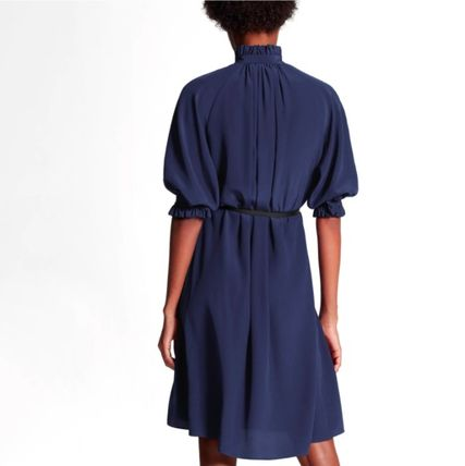 Louis Vuitton ワンピース 新作☆【LouisVuitton】LV ★ BELTED DRESS WITH PUFF SLEEVES(6)