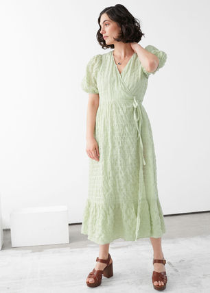 & Other Stories ワンピース & Other Stories新作☆Puff Sleeve Wrap Maxi Dress