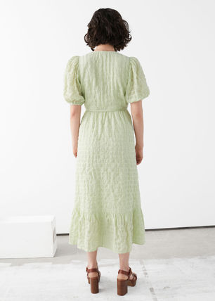 & Other Stories ワンピース & Other Stories新作☆Puff Sleeve Wrap Maxi Dress(3)