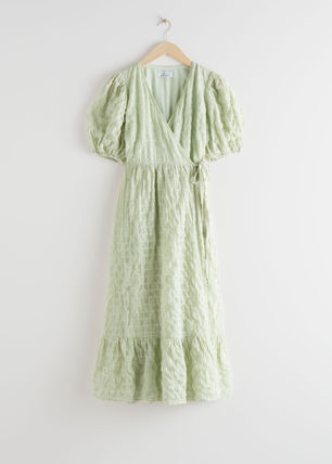 & Other Stories ワンピース & Other Stories新作☆Puff Sleeve Wrap Maxi Dress(4)