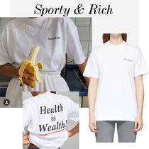 ▼Sporty & Rich▼レア 'Health Is Wealth' ロゴ Tシャツ 送込