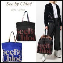*See by Chloe*ロゴプリント トートバッグ 関税/送料込