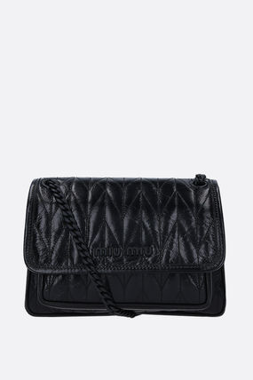 【MIUMIU】QUILTED SHINE LEATHER SHOULDER BAG