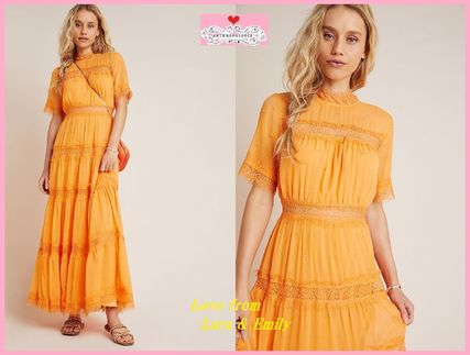 Anthropologie ワンピース 最安値保証*関送料込【Anthro】Cipriana Tiered Lace Maxi Dress