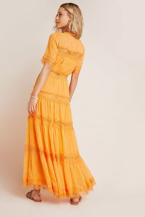 Anthropologie ワンピース 最安値保証*関送料込【Anthro】Cipriana Tiered Lace Maxi Dress(3)