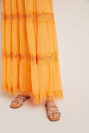 Anthropologie ワンピース 最安値保証*関送料込【Anthro】Cipriana Tiered Lace Maxi Dress(5)
