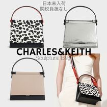 日本未入荷/送関込☆CHARLES&KEITH  Cow Print Sculptural Bag