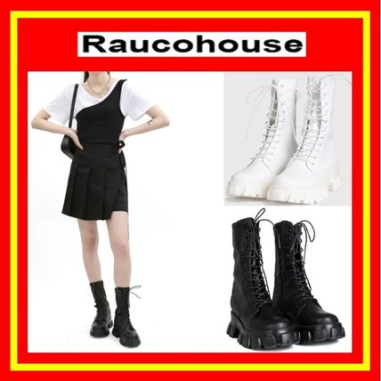 Raucohouse ミドルブーツ [Raucohouse] UGLY WALKER BOOTS /2色 /追跡付