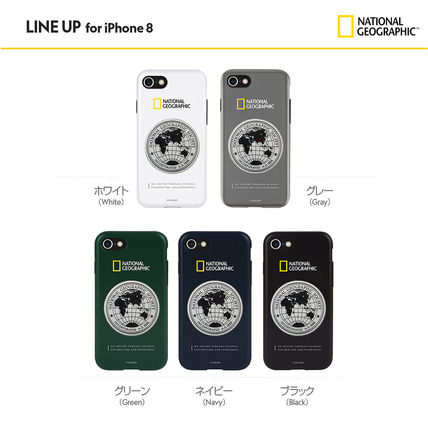NATIONAL GEOGRAPHIC スマホケース・テックアクセサリー 2020 iPhone SE/8/7 ケース Global Seal Metal-Deco Case