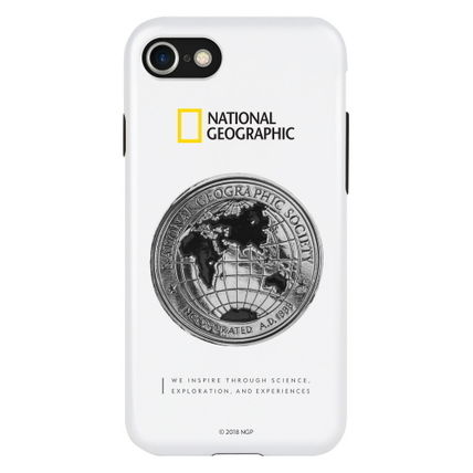 NATIONAL GEOGRAPHIC スマホケース・テックアクセサリー 2020 iPhone SE/8/7 ケース Global Seal Metal-Deco Case(3)