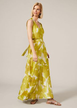 Phase Eight ワンピース 【Phase Eight】Coline シルク Blend Maxi Dress 花柄 ドレープ(2)