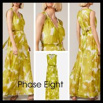 【Phase Eight】Coline シルク Blend Maxi Dress 花柄 ドレープ
