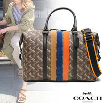【COACH】キャリッジプリント ボストンバッグ 大人気 関税込み