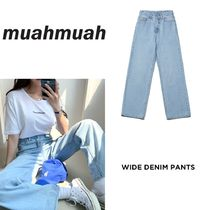 【muahmuah】20新作 Wide Denim Pants デニム