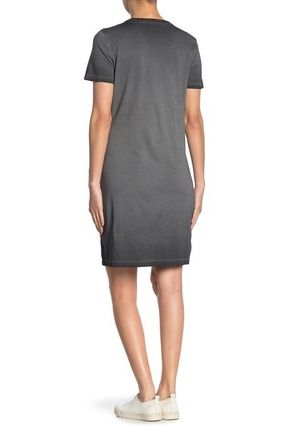 Calvin Klein ワンピース 関税送料込 Calvin Klein Short Sleeve Logo Print TShirt Dress(3)