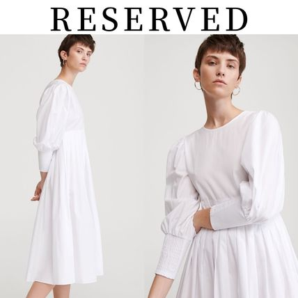 RESERVED ワンピース 【RESERVED(リザーブド) 】Cotton dress コットン ワンピース