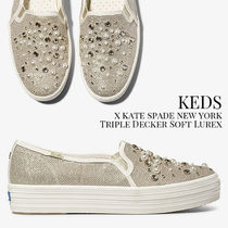 KEDS x KATE SPADE NEW YORK Triple Decker ビジュー スニーカー