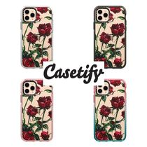 【Casetify】 ★ iPhone ★インパクト レッドローズ
