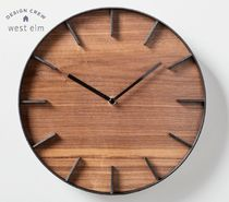 【West Elm】限定品 Wood-Faced Wall Clock 壁掛け時計