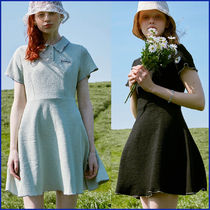 rolarola★人気★FIT AND FLARE COLLAR ONE-PIECE_2色★OP-20318