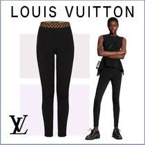 新作【LouisVuitton】 ELASTIC MONOGRAM BELT LEGGING レギンス