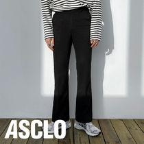 ASCLO(エジュクロ) パンツ +5cm Semi Boots Cut Slacks (2color)