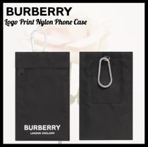 Burberry☆バーバリー☆Logo Print Nylon Phone Case