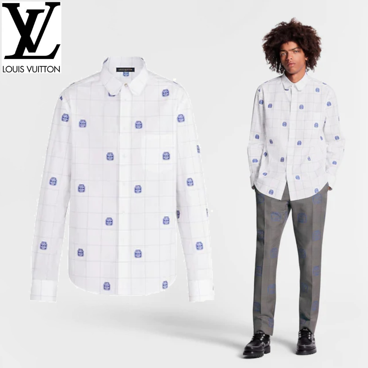 20SS☆【国内発送】LVレッグシャツウィズDNAカラー/すぐ届く♪ (Louis Vuitton/シャツ) 1A5W4P