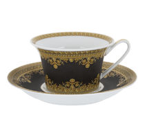 I LOVE BAROQUE Low Cup & Saucer - Set of 6 黒(送料・関税込)