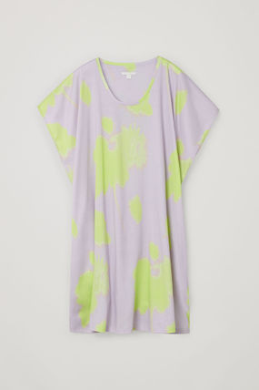 """COS ワンピース """"COS"""" 新作☆ORGANIC COTTON V-NECK RELAXED A-LINE DRESS(4)"""