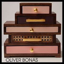 OLIVER BONAS(オリバーボーナス) 小物入れ(トレイ) 【OLIVER BONAS】Luiza Pink Mango Wood Jewellery Box Small