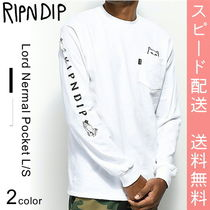 RIPNDIP Lord Nermal Pocket L/S BLACK WHITE 長袖Tシャツ ロンT