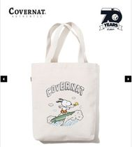 【Covernat X Peanuts】SURFING SNOOPY ECO BAG IVORY