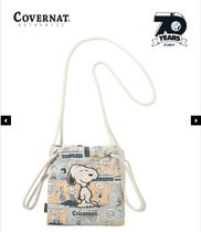 【Covernat X Peanuts】SNOOPY CARTOON ECO POUCH IVORY