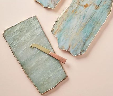 Anthropologie 食器(皿) 【Anthropologie】アンティーク風  Agate Cheese Board/全3種(5)