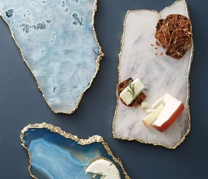 Anthropologie 食器(皿) 【Anthropologie】アンティーク風  Agate Cheese Board/全3種(8)
