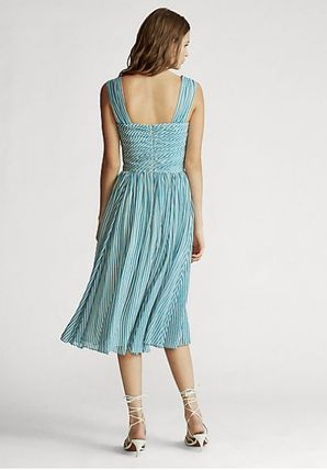 Ralph Lauren ワンピース 新作♪ 国内発送 Striped Fit-and-Flare Dress(3)